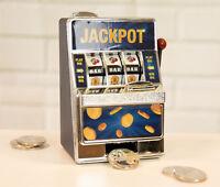 Money Box Bank Casino Slot Fruit Machine Savings Tin Piggy Bank Christmas gift