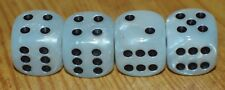 DUDDS DICE WHITE MARBLE w/BLACK DOTS VALVE STEM CAPS (4 PACK) #51