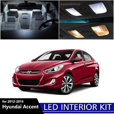 6PCS White Interior LED Light Kit for 2012 - 2015 Hyundai Accent