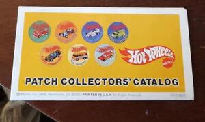 Vintage Hot Wheels Original Patch Collector's Catalog