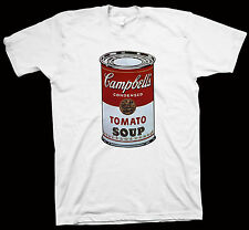 Campbell's Soup Can T-Shirt Andy Warhol New York Mick Jagger, Liza Minnelli