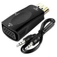 1080P HDMI to VGA converter adapter + 3.5 mm audio Video jack full HD PC Laptop