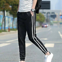 Hot Stylish Men Casual Loose Long Gym Sports Sweat Pants Running Trousers S~2XL