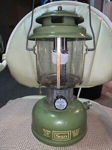 Coleman Sears Avocado Color Double Mantle Lantern March 1973