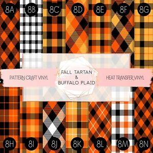 Tartan Buffalo Plaid Pattern Vinyl Siser HTV & Adhesive Craft Vinyl Oracal