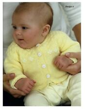 Premature baby cardigan, hat and bootees knitting pattern 4 ply.