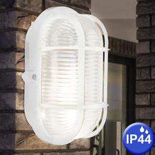 Außen Wand Leuchte Bade Zimmer Feucht Raum Fassaden Beleuchtung Glas Lampe weiß