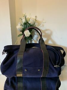 JACK WILLS WOMEN'S BLUE PINK HOLDALL GYM TRAVEL WEEKEND GRAB MESSENGER BAG