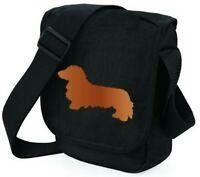 Bag with Long Haired Dachshund Shoulder Bags Dog Walkers Xmas or Thankyou Gift