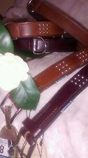 "Ancol Vintage ""Big Dog"" Studded or Classic Leather Padded Dog Collar Large"