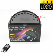 1080P HD Night Vision Alarm Clock Hidden Camera DVR Digital Video Record Remote
