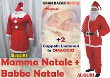 BABBO E MAMMA NATALE 2 ABITI COMPLETI Tg. Uni +OMAGGIO