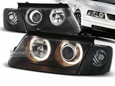 Headlights for VW PASSAT B5 3B 96-00 Angel Eyes Black DEPO UK RHD/LHD LPVW26-ED