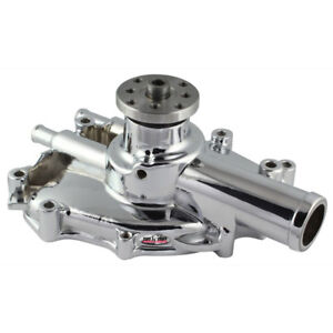 Tuff Stuff Water Pump 1625NG; High Volume Chrome Aluminum for Ford 302/351W SBF