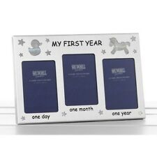 First Year Frame Baby Shower Boy Girl First Born Christening Gift Present 50052