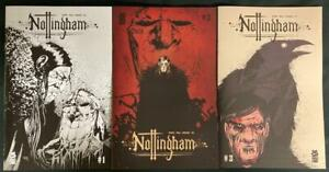 NOTTINGHAM #1 4th PRINT, #2 3rd PRINT, #3 2nd PRINT ALL 3 ARE VARIANTS MAD CAVE