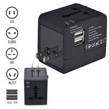 Universal Power Adapter Electric Converter USAUUKEU World USB Travel Plug NEW