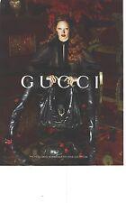 PUBLICITE ADVERTISING 2012  GUCCI nouvelle collection de sac maroquinerie hiver