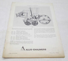 Allis Chalmers Operating Instruction Parts Manual 100 Series Planting Units