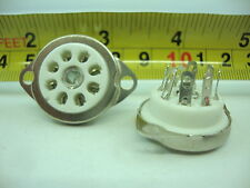 8 PINS CERAMIC TUBE SOCKET. RIMLOCK SOCKET. ZOCALO CERAMICO RIMLOCK.