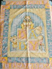 Baby Bear Blocks ABC 123 Cotton & Fleece Baby/Toddler/Youngster Quilt