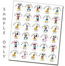 Mickey Mouse Clubhouse personalized stickers birthday party favors tags