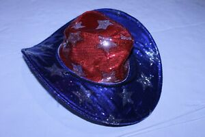 Adult 4th of July American Flag OSFM Cowboy Hat (Red/White/Blue) Cool Things Cor