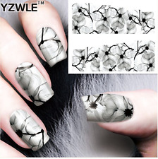 Nail Art Stickers Transfers Decals Pale Flowers (A-78)