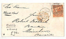 AN8 1866 GB Liverpool to Germany Munich via France Cover. 5VOD very scarce