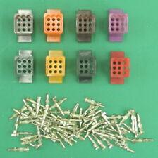 Lot Of 8 Male NOS 9-Pin .093 Molex Connectors In 4 Colors + 75 Memale Pins. CM