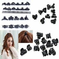 10pcs Black Plastic Hair Clips Small Hairpin Claws Clamps