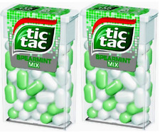 Tic Tac 18g Spearmint Mix Limited Edition - 2 Boxes - FREE WORLDWIDE DELIVERY