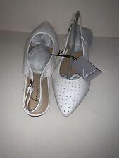 Lane Bryant Slingback Flats Sandal Perforated Pointed Toe Shoe Women Sz 10W NWT
