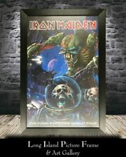 Iron Maiden Band Signed The Final Frontier Tour Poster CUSTOM FRAMED