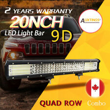 9D Quad Row 20'' 510W Combo LED Work Light Bar Combo for Jeep Truck Boat 12v CA