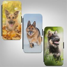 German Shepherd Puppy Dog WALLET FLIP PHONE CASE COVER for IPHONE SAMSUNG HUAWEI