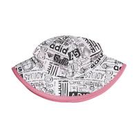 Ruhi Kids Girls Pink 2-Tier Flower Bow Bucket Sun Hat with Chin Strap Age 1 2 3 4 5