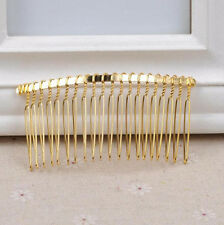 Wholesale Black Gold Silver Metal Hair Comb Slide Side Combs Hair Clip Jewelry