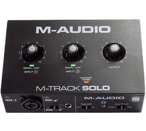 M AUDIO M TRACK SOLO USB AUDIO INTERFACE  LINE UND D EINGÄNGEN