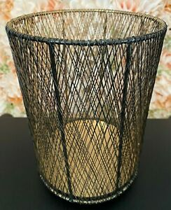Bath & Body Works Elements Gold & Black Wire Metal Luminary Candle Holder