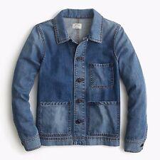 J Crew Denim Workwear Jean Jacket Western Boyfriend Boxy Womens Medium NWT