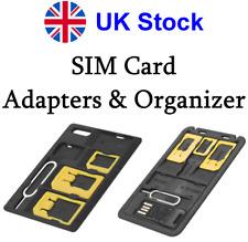 SIM Micro & Nano Card Adapter - SIM Card Organiser - MicroSD Memory Card Reader