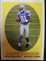 Calvin Johnson Detroit Lions WR 2007 Topps Rookie Card #8 Of 22