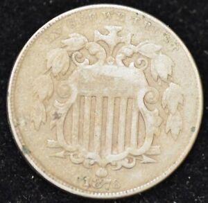 1876 VERY FINE Shield Nickel, Scarce!