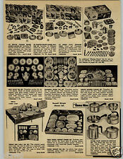 1962 PAPER AD Toy Play Milk Glass Tea Set Cup Saucer Grandma Noses Russel Wright
