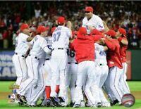 "Texas Rangers ALCS Team Celebration Photo (Size: 8"" x 10"")"