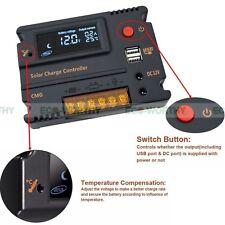 20A 12V 24V Solar Laderegler Solarpanel Temperaturkompensation Solarregler LCD