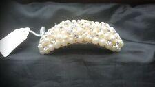 Vintage Style Pearl & Crystal Bridal Headpiece Comb New & Unused Ex display