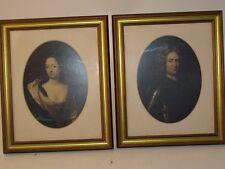 Reproduction portraits royaux encadrés