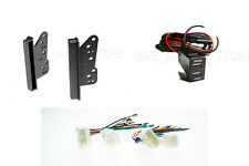 Double Din Installation Dash Kit Wire Harness Dual USB Port for Toyota